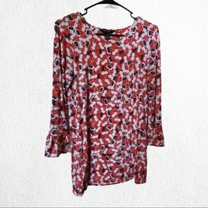 Long Tall Sally Long Sleeve Printed Top Size XS